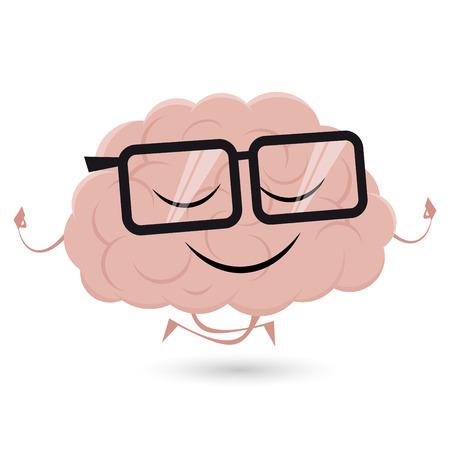 funny brain is doing yoga Çizim