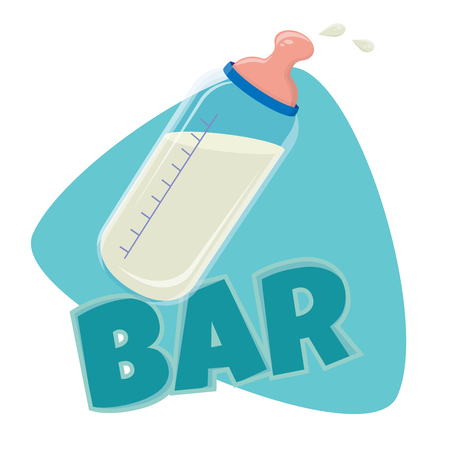 funny baby milk bar clip art
