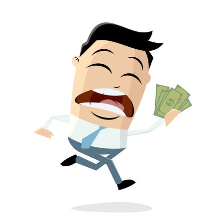l'uomo divertente del fumetto vuole spendere urgentemente i suoi soldi