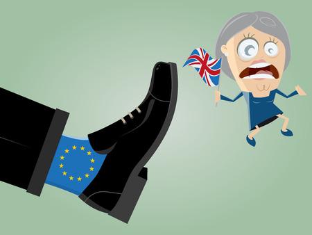 il leader britannico viene cacciato dal potente piede dell'UE