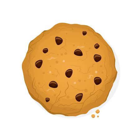 Funny cookie vector cartoon illustration