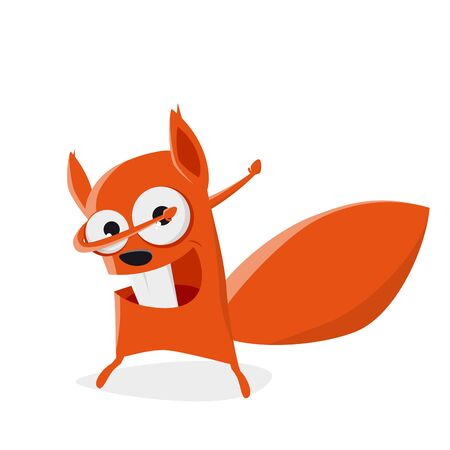 funny cartoon squirrel in dab pose