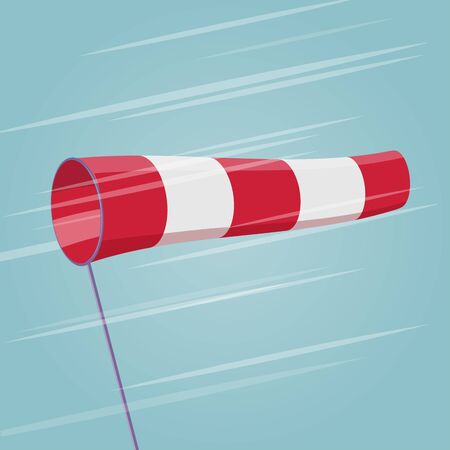 Windsock cartoon illustration