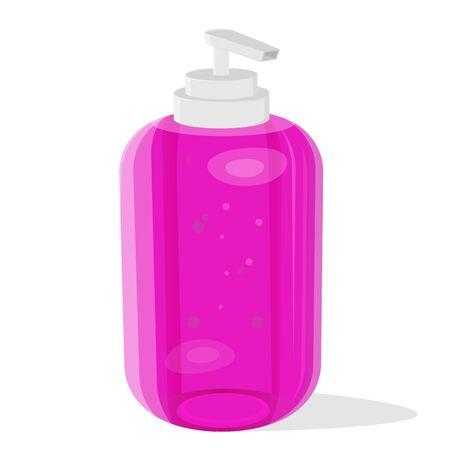 Cartoon illustration of a liquid soap dispenser