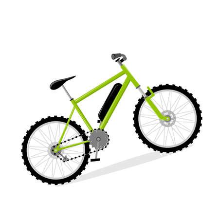 vector illustration of an isolated e bike Illustration