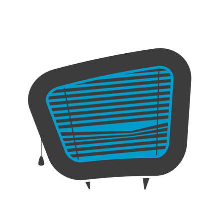 retro cartoon   of tv screen with blinds