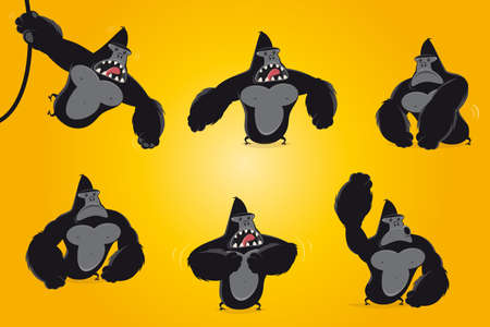 funny cartoon gorilla collection