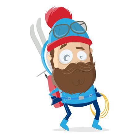 funny cartoon tourer or climber Illustration