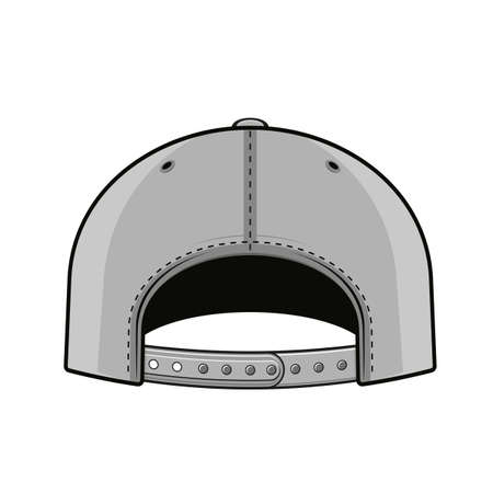 backside of a snapback cap vector illustration Illustration