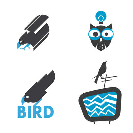 bird related sign vector collection