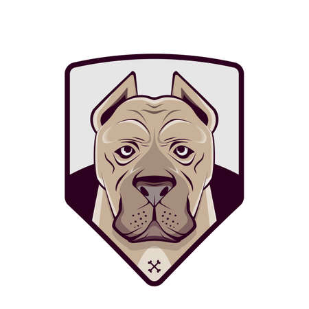 bulldog   vector illustration