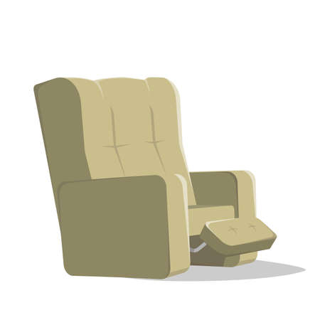 cartoon illustration of an armchair