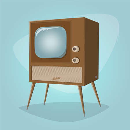 retro cartoon television vector illustration Illustration