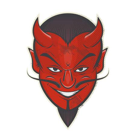 vintage cartoon satan or devil retro logo