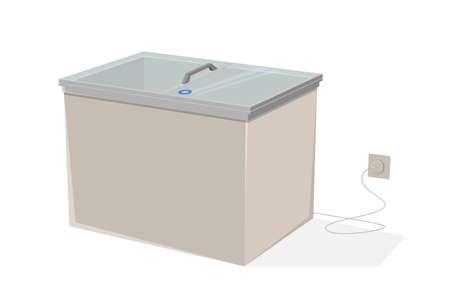 cartoon illustration of a freezer