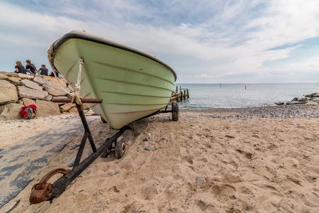 Ruegen fishing village Vitt Stock fotó