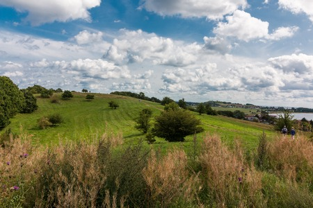 Ruegen - Klein Zicker - hiking trail Фото со стока