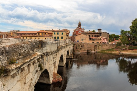 The Bridge Ponte d 'Augusto in Rimini, Italy