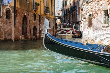 Gondola ride in the canals of Venice, Italy