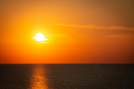 Sunrise on the Adriatic sea in Italy