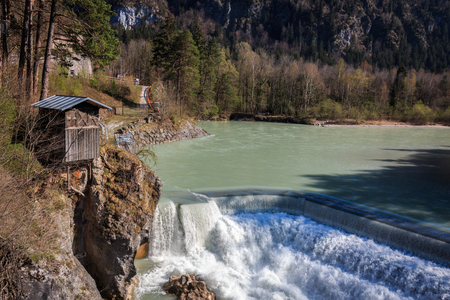 The lech case in Fuessen in Bavaria Germany Stock Photo