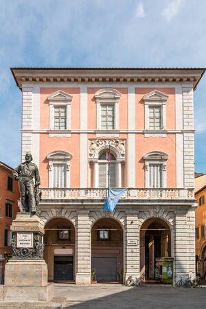 The Piazza piazza Garibaldi in Pisa, Tuscany, Italy