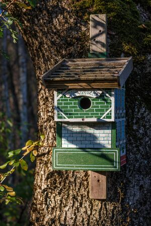 Bird house Stockfoto