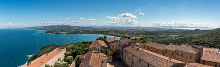 Panoramic view of the fortress in Populonia, Tuscany, Italy, view, panorama,