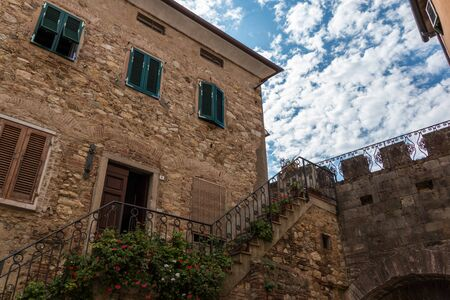 Staircase In The Old Town Of Suvereto, Tuscany, Italy