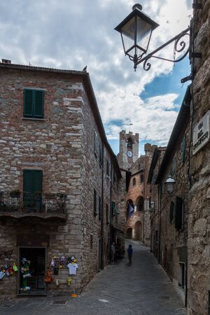 Alley in the old town Suvereto, Tuscany, Italy