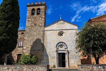 Chiesa di San Giusto, in Suvereto, Tuscany, Italy Stock Photo