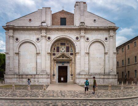 La chiesa del Tempio Malatestiano di Rimini, Italia