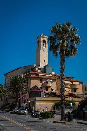 The parish church in San Vincenzo, Tuscany, Italy