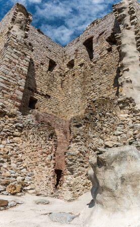 Ruins of the Rocca Aldobrandesca in Suvereto, Tuscany, Italy