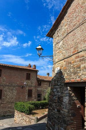 In the old town of Suvereto, Tuscany, Italy