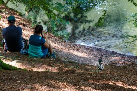 Break at the Amselsee in the Elbe Sandstone Mountains