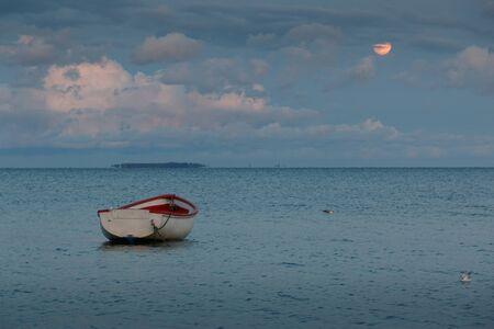 Fairytale evening mood on the Baltic Sea