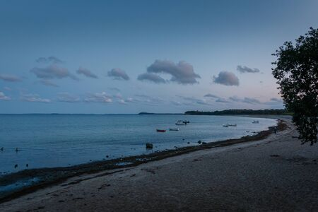 South beach in Goehren on the island of Ruegen at dusk