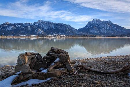 Forggensee in the Bavarian Allgaeu