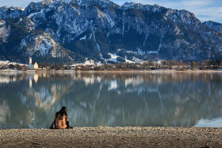 Enjoy the view of the Forggensee