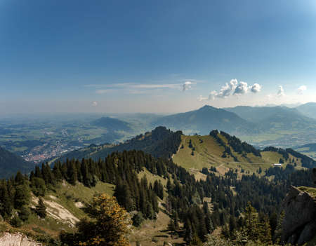 Panoramic view of Immenstadt on the Nagelfluhkette in the allgäu alps