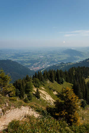 View of Immenstadt on the Nagelfluhkette in the Allgäu Alps