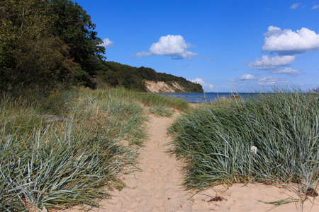 Natural beach in Goehren on the island of Ruegen