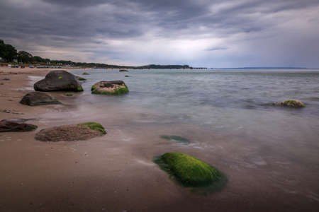 North beach in Goehren on the island of Ruegen on the Baltic Sea 免版税图像
