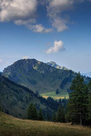 View from the Steineberg to the Stuiben mountain peak on the Nagelfluhkette