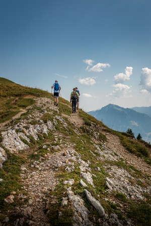 Hiking on the Nagelfluhkette in the Allgäu Alps