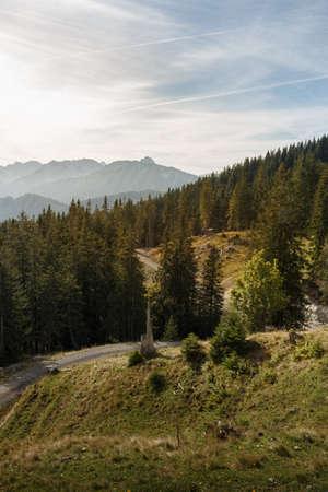 Mountain landscape on Edelsberg in the Allgäu Alps