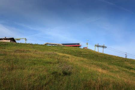 Middle station of the Alpspitzbahn in Nesselwang in the Allgäu Alps 免版税图像