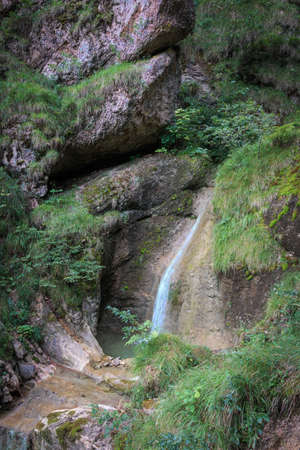 Ascent via the waterfall path to the Alpspitz in Nesselwang in Nesselwang in the Allgäu Alps