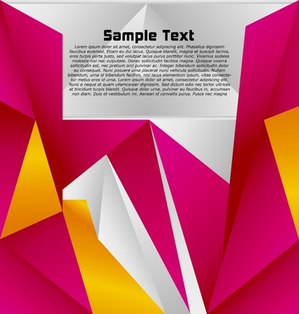 angular: Modern abstract colorful designed vector background Illustration